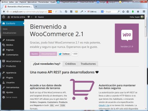 Ajustes de WooCommerce
