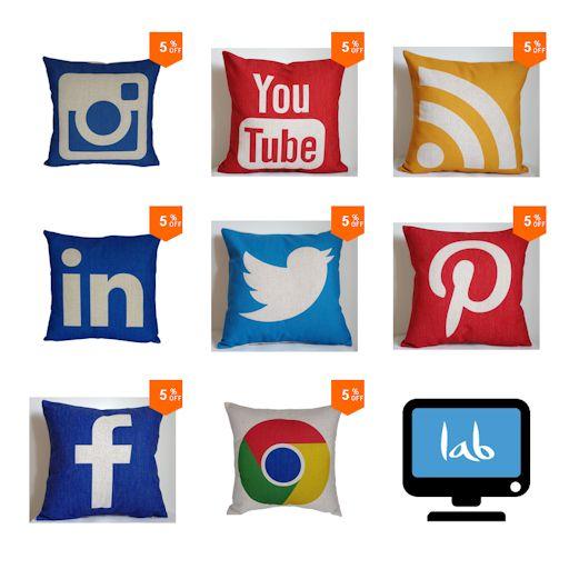 Cojines de Redes Sociales