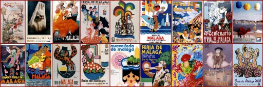 Carteles de la feria de Málaga