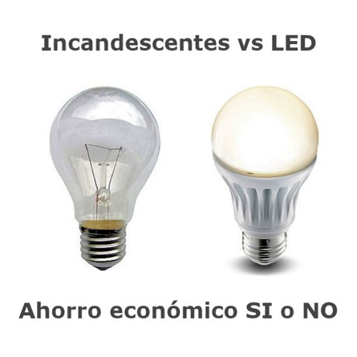 Incandescentes vs bombillas LED
