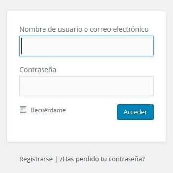 Login en WordPress